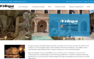 Screenshot inlinguapesaro.it